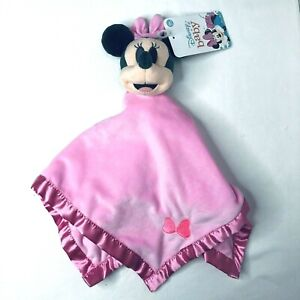 "Disney Baby Minnie Mouse 15"" Lovey Security Blanket Plush Pink NEW 2020"
