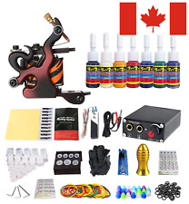 Solong Tattoo® Complete Professional Tattoo Kit 1 Machine Gun 7 Color Inks Power