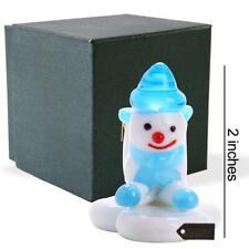 Murano Christmas Winter Decorative Glass Snowman Figurine, Mothers Day Gift