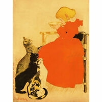 Steinlen Quillot Milk Cats Girl French Advert Extra Large Art Poster