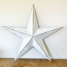 White Washed Star *XL *74cm *Metal *Vintage Barn Star *Hanging Wall Decoration