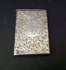 Sampson Mordan London 1888 Antique English Sterling Silver Vesta Victorian