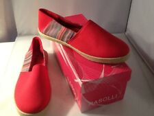 Pre-owned Rasolli Women's Canvas Flats Size 7.5 Red