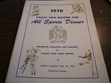 Original Valley View Booster Club 1970 1St Annual All Sports Dinner - Program