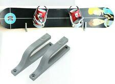 2X Grey Snowboard Hanger Skateboard Holder Longboard Display Storage Wall Mount