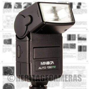 Minolta Auto 132PX Tilt Bounce Program TTL Flash for X-500 X-700 CLE Leica R5 R7