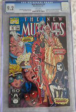 The New Mutants # 98 1st DEADPOOL Domino CGC 9.2 White Pages NEAR MINT 🔑 Issue!