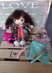 Adorable doudou poupée chiffon 25 cm 2 tenues accessoires H&M etat neuf +cadeau