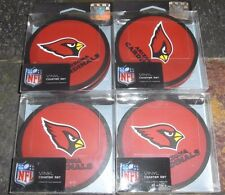 4 - 4 Packs Vinyl Drink Coasters - Arizona Cardinals = 16 Coasters