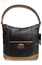 NWT Tignanello Artisan Revival Hobo Bag, Black/Cognac, Leather T61510A $159.99