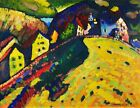 Print - Houses at Murnau (1909) painting in high resolution by Wassily Kandinsky