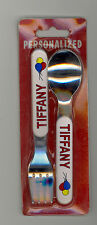 Personalized Fork & Spoon Set ~ TIFFANY ~ Stocking Stuffer ~ Balloons ~ Gift