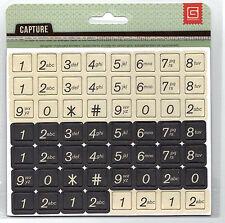 BasicGrey CAPTURE Chipboard Numbers (56) Pcs scrapbooking Altered Art