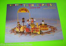 TREN EXPRESO EXPRESS NOS TRAIN COIN OPERATED KIDDIE TRAIN SALES FLYER BROCHURE