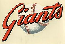 1960's S.F. GIANTS UNUSED WINDOW DECAL STICKER MINT