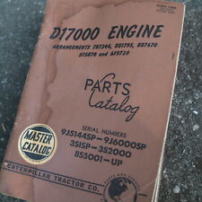 CAT CATERPILLAR D17000 Diesel Engine Spare Parts Manual book catalog 9J series