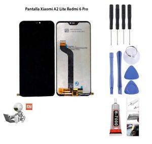 Pantalla LCD Para Xiaomi Mi A2 Lite / Redmi 6 Pro Digitalizador táctil Negro