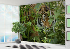 Wallpaper Tiger looking through trees in the Jungle wall mural photo (21908284)