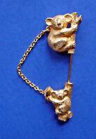 Avon PIN Vintage KOALA Bear MOTHER'S LOVE 2 PC SET Stick Brooch Animal Jewelry