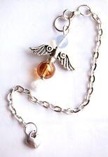 Schöne Opalite & Sonnenschein Aura Kristall Schutzengel Anhänger Pendulum