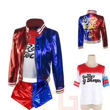 Costume Suicide Squad Harley Quinn Daddy's Coat Lil Monster Jacket T-Shirt Sets