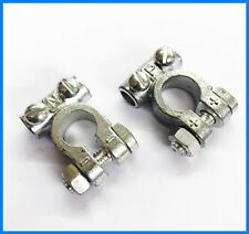 Car Battery Terminals Clamps Pair Screw Connection Positive & Negative