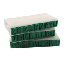 """Blue 0.4"""" Length Letters Detachable 26 English Alphabet Stamp Set LW"""