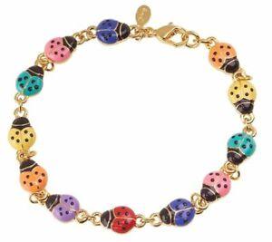 Joan Rivers Pastel Lucky Ladybug Line Bracelet