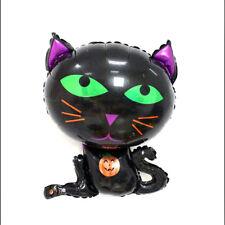 Halloween black cat cartoon aluminum balloons kids children birthday party decor