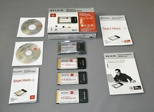 Belkin Wireless G Notebook Cards - 802.11g  Used 2 off ver 6000uk and 1 off ver