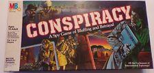 Vintage 1982 Milton Bradley Conspiracy Spy Board Game - Complete