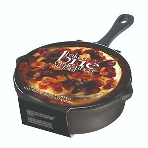 "GOURMET DU VILLAGE BAKED 5.5"" BRIE CAST IRON SKILLET w/ CRANBERRY ALMOND TOPPING"