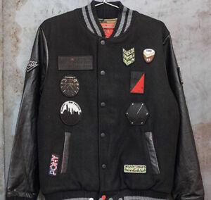 Pony x Rothco Wool Leather Varsity Jacket Mens size Large