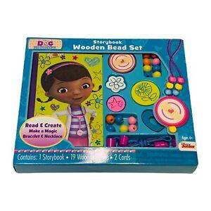 Disney Doc McStuffins Storybook Wooden Bead Set Kids Art Activity toy pretend