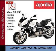 Aprilia Mana GT ABS Workshop Service Repair Manual