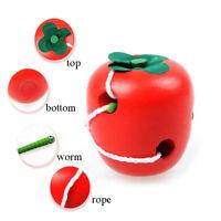 Fruit Laçage Jeu Montessori Puzzle passer Jouet En bois Jouet Intelligent Jouet