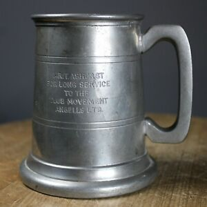 Pewter tankard Ansells Ltd Breweriana Marlborough English Pewter Made in England