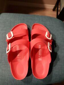 Birkenstock Woman Size 40/9 Pink Arizona Sandels-water friendly