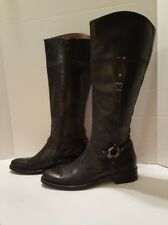 Nero Giardini Women's Black Leather Equestrian Zip Up Italian Boots US 6.5 / 37