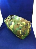 "USGI Chemical Suit Storage Bag Woodland Camo Compression Sack 9x21"" Great Cond."