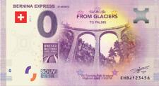 Billets Euro Schein Souvenir Touristique 2019 Bernina Express St Moritz
