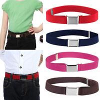 Kids Boy Girl Adjustable Stretch Canvas Waist Belt Waistband Buckle Belt Band