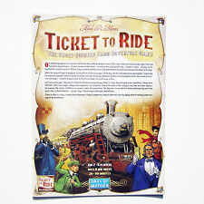 NEW Ticket to Ride USA Original Instruction Manual Replacement Game Parts