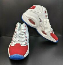 New/Deadstock Reebok Men's Question Mid OG 'Red Toe' Sneakers Size 12 -BBJ466I2
