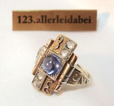 Ansprechender Art Deco´ Diamant Ring 585 er Gold / Au 336