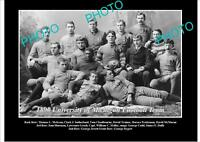 OLD LARGE HISTORIC PHOTO OF UNIVERSITY OF MICHIGAN FOOTBALL TEAM 1890