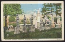 Postcard MAYFIELD Kentucky/KY  Wooldridge Family Cemetery Monuments view 1930's