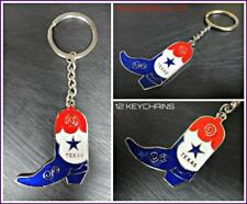 WHOLESALE LOT Texas Cowboy Boot KeyChain Key Ring Souvenir Gift 12 Key Chains