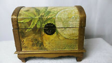 Market Bazzar Decorative Map Trunk Metal Latch Velvet like inside lines Chest
