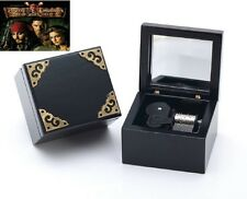 Black Vintage Square Music Box : Pirates of The Caribbean - { He's A Pirate}